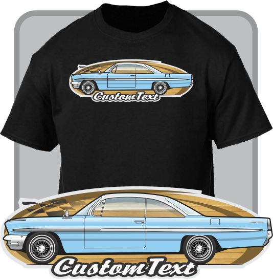 Custom Art T-shirt 1961 61 Pontiac Ventura Catalina Bonneville 2 door coupe hardtop sport