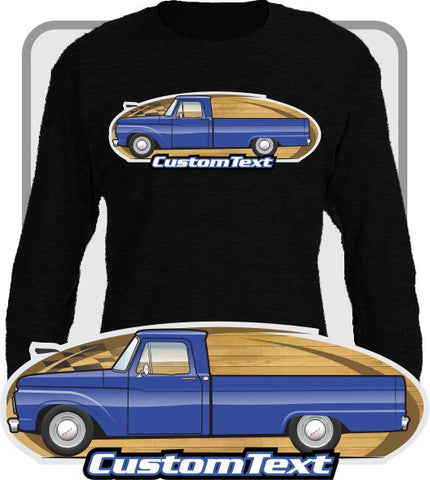 Custom Art Long Sleeve 1961 1962 63 64 1965 66 1966 Ford F-100 F100 F-250 Mercury M-100 Pickup Truck Long Bed Flareside Styleside Twin I-Beam