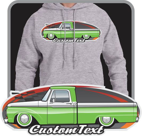Custom Art Hoodie 1961 62 63 64 65 66 F-100 F100 F-250 Pickup short bed not affiliated with ford truck