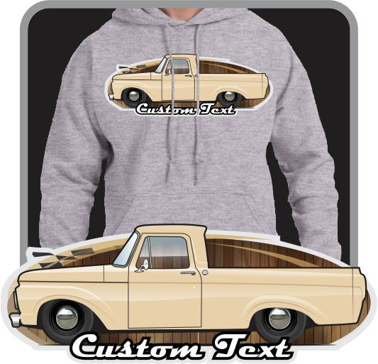 Custom Art Hoodie 1961 62 63 F-100 F100 Unibody Pickup not affiliated with ford Truck