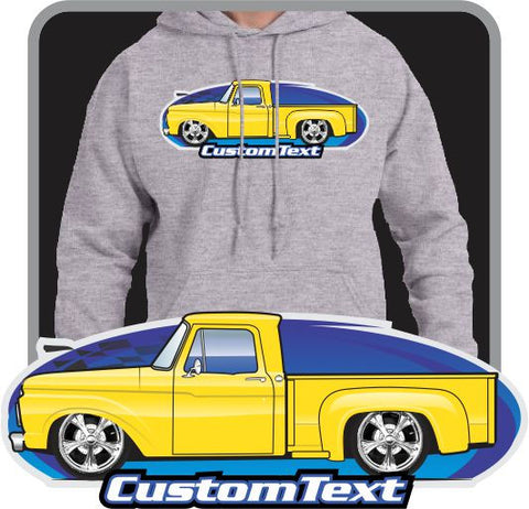 Custom Art Hoodie 1961 62 63 64 65 66 F-100 F100 F-250 Pickup Stepside not affiliated with ford Truck