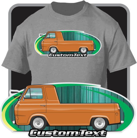 Custom Art T-Shirt 1961 1962 1963 1964 1965 1966 1967 Ford E-Series Econoline Mercury Camper Pickup 3 window Truck