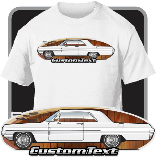 Custom Art T-Shirt 62 1962 olds Oldsmobile Dynamic Super 88 Holiday Coupe fans