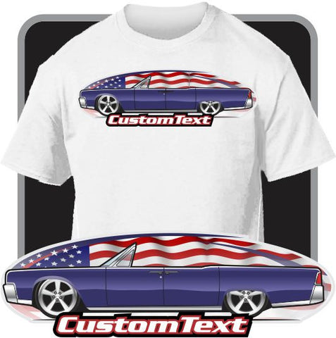 Custom Art T-Shirt inspired on 1963 63 1964 64 Lincoln Continental Convertible Open Top