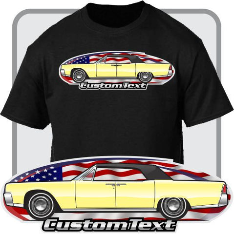 Custom Art T-Shirt 1961 62 63 64 65 66 67 68 69 Lincoln Continental Convertible Top On