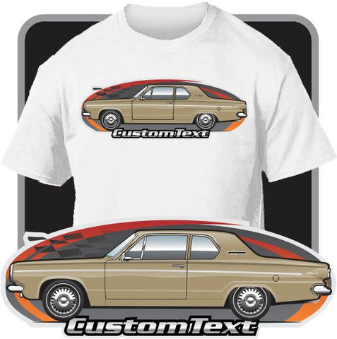 Custom Art T-Shirt 1963 63 Dodge Dart 2 door Sedan 225 Six V8 170 270