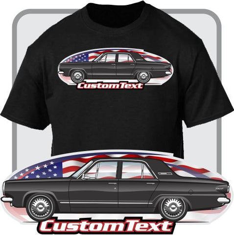Custom Art T-Shirt 1963 63 Dodge Dart 4 door Sedan 225 Six V8 170 270