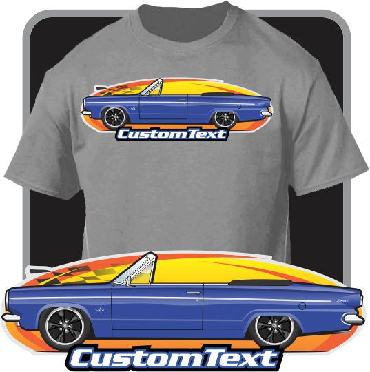 Custom Art T-Shirt 1963 63 Dodge Dart Convertible GT 225 Six V8 270