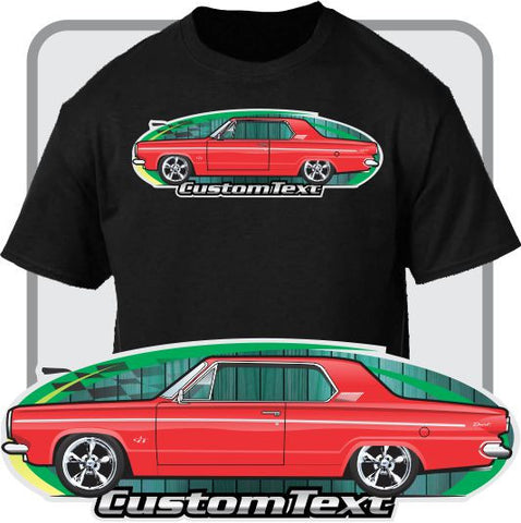 Custom Art T-Shirt 1963 63 Dodge Dart GT 2 door Hardtop 225 Six V8 270
