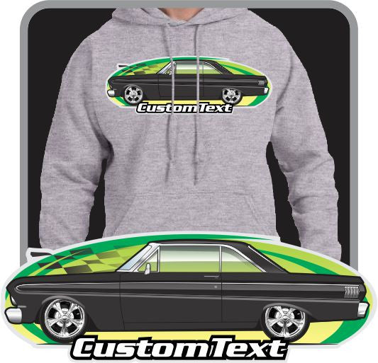 Custom Art Hoodie 1964 1965 Falcon Hardtop Sprint Futura not affiliated w/ ford