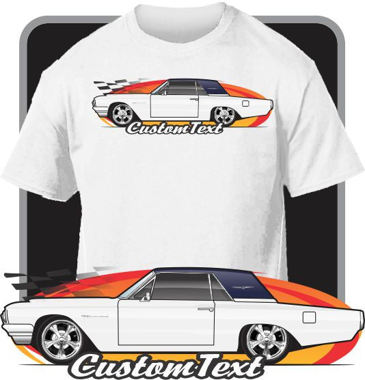 Custom Art T-Shirt for 64 1964 Ford Thunderbird Hardtop 390 V8 Fans