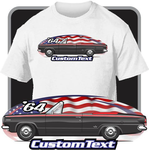 Custom Art T-Shirt 1964 64 Dodge Dart Convertible GT 225 Slant Six V8 270