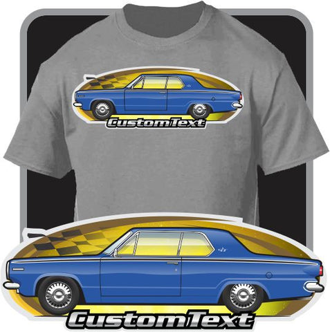 Custom Art T-Shirt 1964 64 Dodge Dart GT 2 door Hardtop 225 Six V8 270