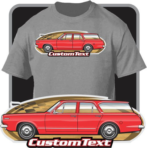 Custom Art T-Shirt 1964 64 Dodge Dart 4 door Station Wagon 225 Six V8 170 270