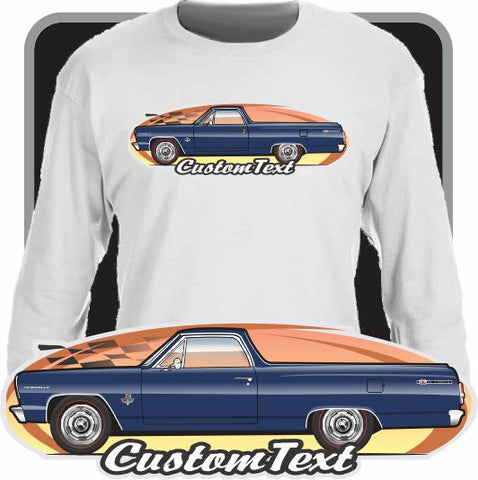 Custom Art Long Sleeve 64 1964 Chevy Chevrolet El Camino V8