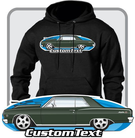 Custom Art Hoodie 1965 65 Chevrolet Chevelle Malibu SS 396 Z16 Coupe Hardtop