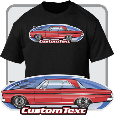 Custom Art T-Shirt 65 1965 Plymouth Belvedere I II V8 2 door Coupe Hardtop