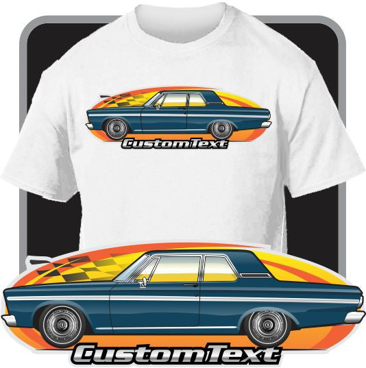 Custom Art T-Shirt 65 1965 Plymouth Belvedere I II V8 2 door Sedan
