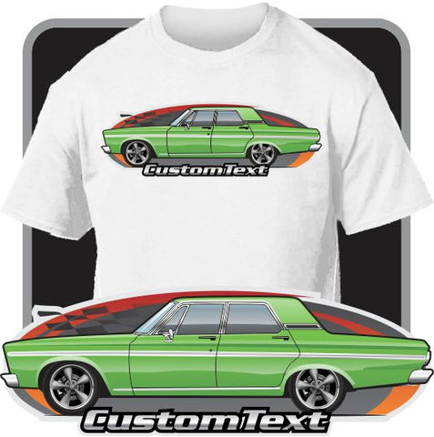 Custom Art T-Shirt 65 1965 Plymouth Belvedere I II V8 4 door Sedan