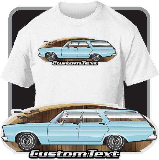 Custom Art T-Shirt 65 1965 Plymouth Belvedere I II V8 4 door Station Wagon