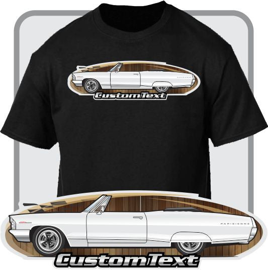Custom Art T-Shirt 65 1965 Pontiac Catalina Sport 2+2 421 Convertible Parisienne