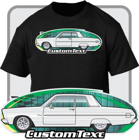 Custom Art T-Shirt 65 1965 Plymouth Sport Fury I II III 426 2-door Sedan VIP