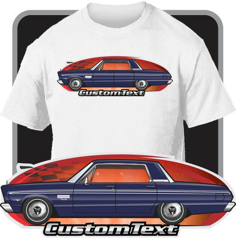 Custom Art T-Shirt 65 1965 Plymouth Fury I II III 426 4-door Hardtop