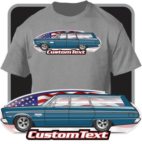 Custom Art T-Shirt 65 1965 Plymouth Fury I II III 426 4-door Station Wagon