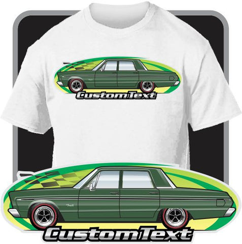 Custom Art T-Shirt 65 1965 Plymouth Sport Fury I II III 426 4-door Sedan VIP