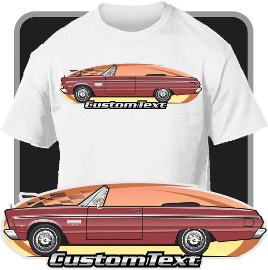 Custom Art T-Shirt 65 1965 Plymouth Sport Fury I II III 426 Convertible