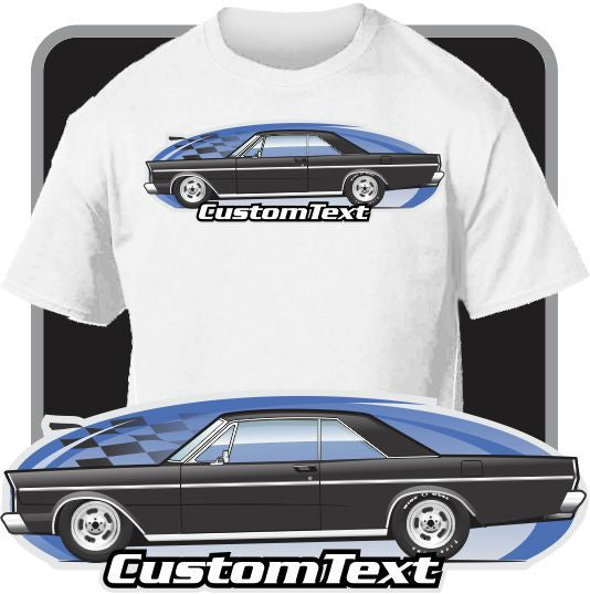 Custom Art T-Shirt 65 1965 Galaxie 500 XL hardtop 2 door coupe V8 396 LTD drag racing pro street machine 300 special not affiliated w/ Ford