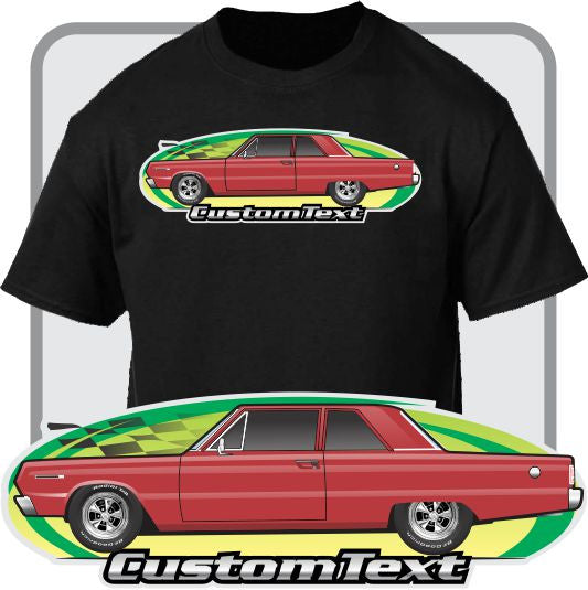 Custom Art T-Shirt 66 67 1966 1967 Plymouth Belvedere Satellite 2-door Post Sedan