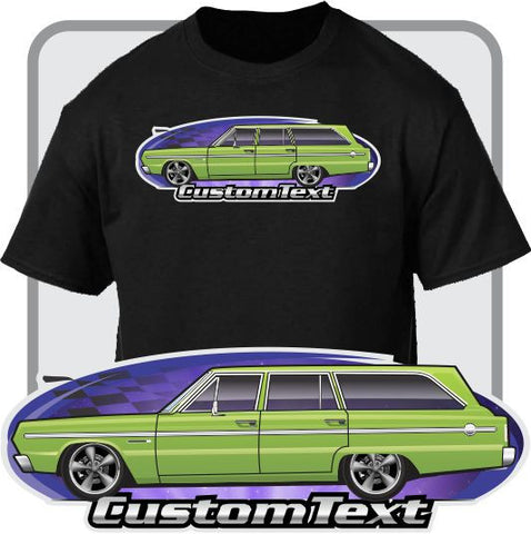 Custom Art T-Shirt 1966 1967 66 67 Plymouth Belvedere Satellite Estate Wagon