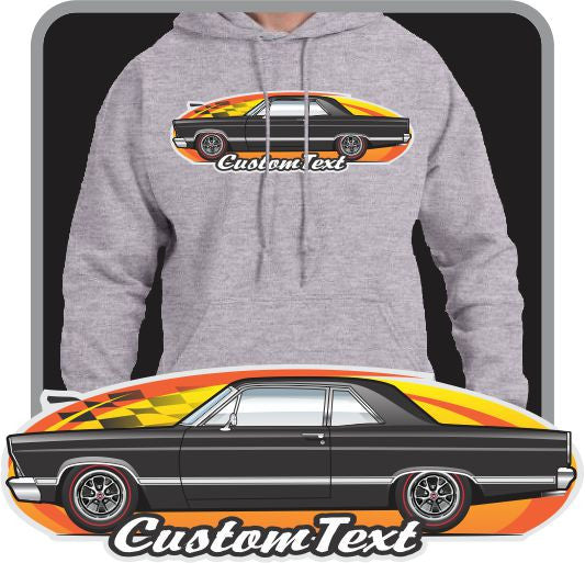 Custom Art Hoodie 66 67 Fairlane 500 2dr sedan post Club not affiliated w/ ford