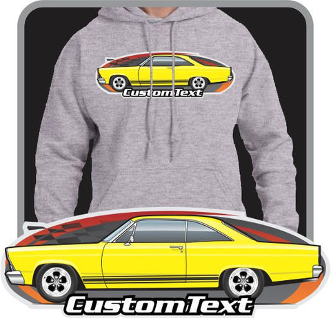 Custom Art Hoodie 66 67 Fairlane 500 Hardtop GTA XL Club not affiliated w/ ford