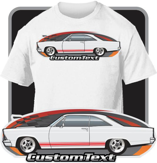 Custom Art T-Shirt inspired on 1966-67 Ford Fairlane 500 Hardtop GT GTA XL Club Coupe 427
