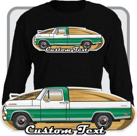 Custom Art Long Sleeve 67 1967 68 1968 1969 69 F-100 Pickup Long Bed Truck not affiliated w ford