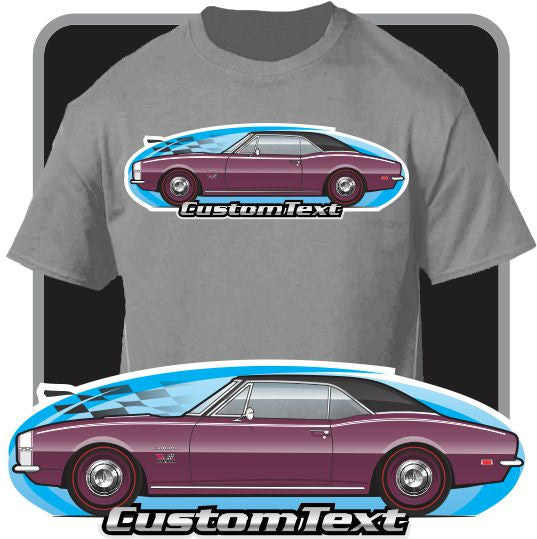Custom Art T-Shirt for 67 1967 Chevy Chevrolet Camaro RS SS Yenko 350 427 Z28