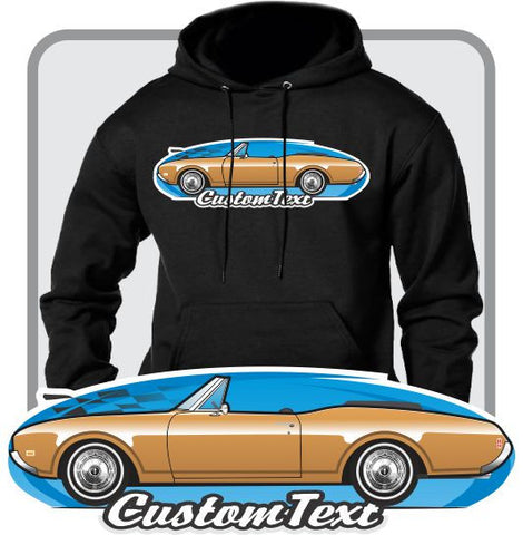 Custom Art Hoodie 68 1968 1969 69 Olds oldsmobile 442 cutlass S Supreme convertible