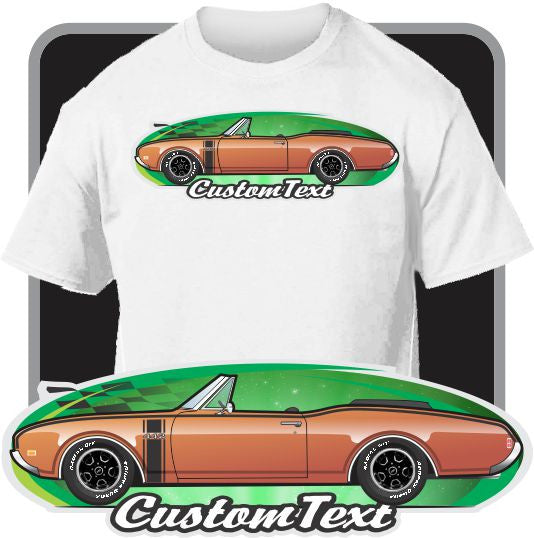 Custom Art T-Shirt 1968-69 Olds oldsmobile 442 cutlass S Supreme convertible