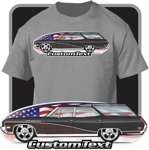 Custom Car Art T-shirt 1968 69 70 71 1972 Buick Sport Wagon 400 Special DeLuxe