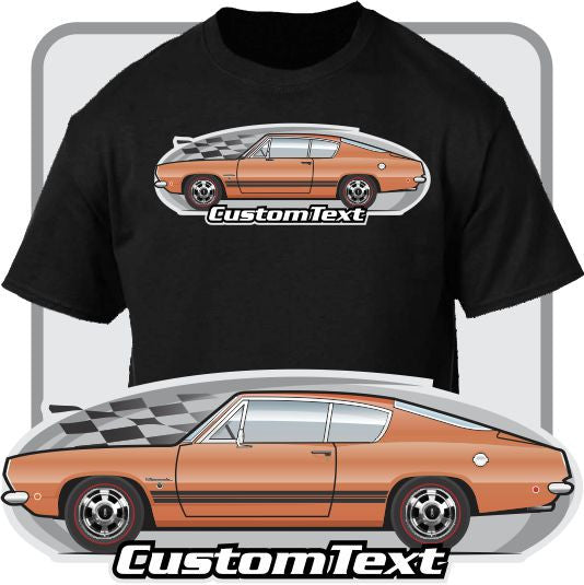 Custom Art T-Shirt 68 1968 Plymouth 'Cuda Barracuda Formula S Fastback 383 440