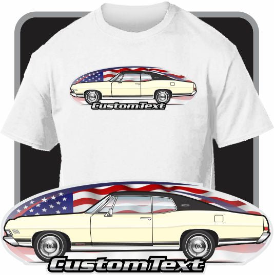 Custom Art T-Shirt 68 1968 Galaxie 500 XL Fastback LTD hardtop coupe not affiliated with Ford