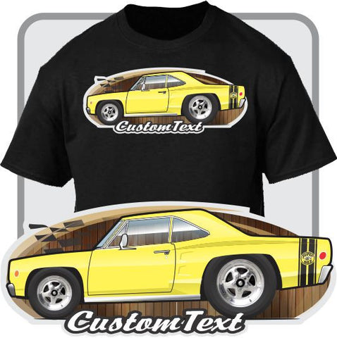 Custom Cartoon Art T-shirt 68 1968 dodge Coronet R/T RT 440 500 De Luxe 426 Hemi