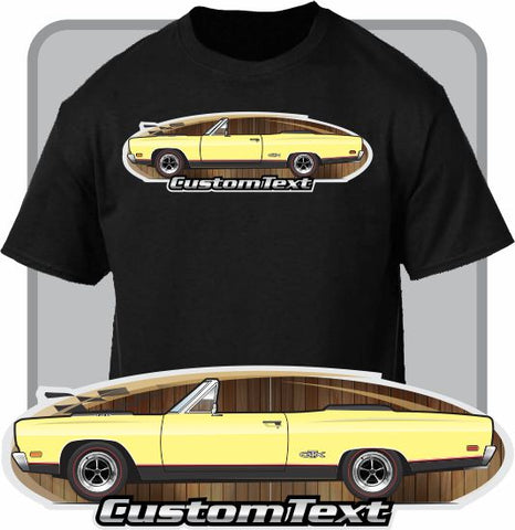Custom Art T-Shirt 1969 69 Plymouth Satellite Sport Convertible GTX 440 V8 383 Muscle car