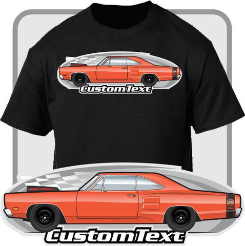 Custom Art T-Shirt 69 1969 dodge Coronet R/T RT 440 500 De Luxe 426 Hemi street