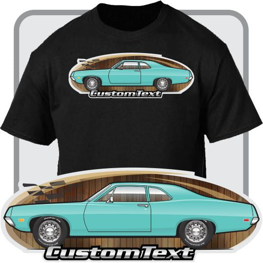 Custom Art T-Shirt inspired on 1970 1/2 Ford falcon 2 door sedan 302 351 429