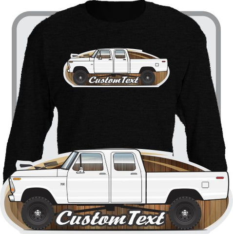 Custom Art Long Sleeve 73 1973 74 1974 75 1975 76 1976 77 1977 78 1978 1979 79 F-100 F-150 Crew Cab Pickup Truck not affiliated w ford