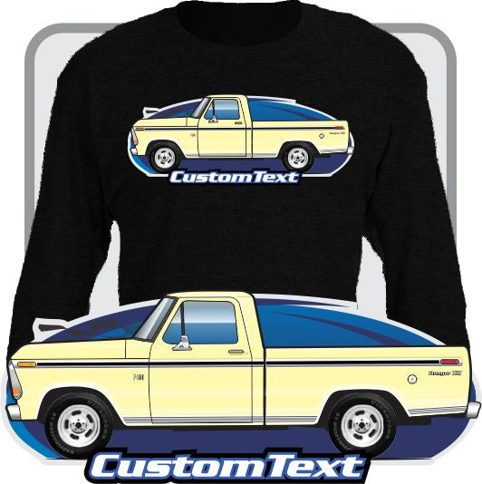 Custom Art Long Sleeve 73 1973 74 1974 75 1975 76 1976 77 1977 78 1978 1979 79 F-100 F-150 short bed Pickup Truck not affiliated w ford