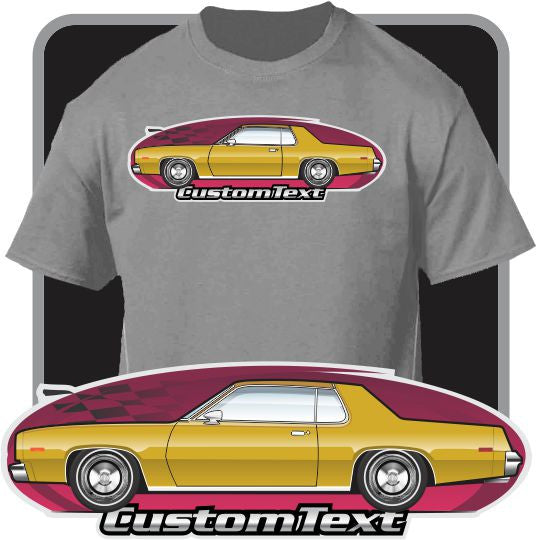 Custom Car Art T-shirt 75 1976 76 77 78 Plymouth Fury coupe 318 360 440 Sport
